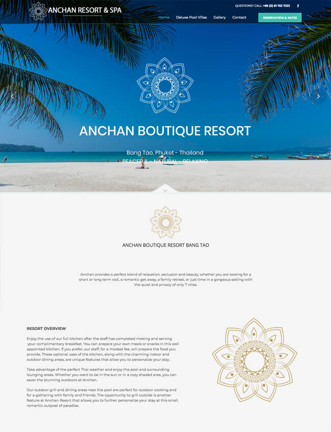 Anchan Resort Bang Tao Web Design Phuket