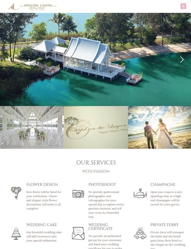 Angsana Laguna Wedding Chappel Web Design Phuket 1