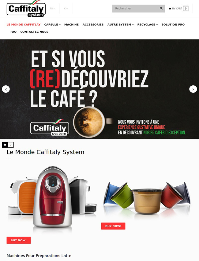 Caffitaly France Web Design Phuket