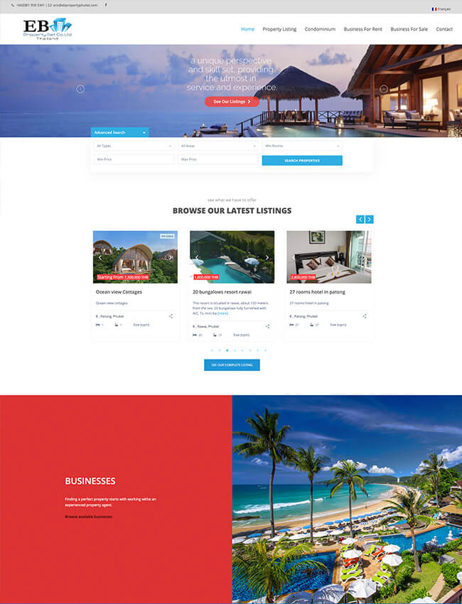 EB Property Web Design Phuket