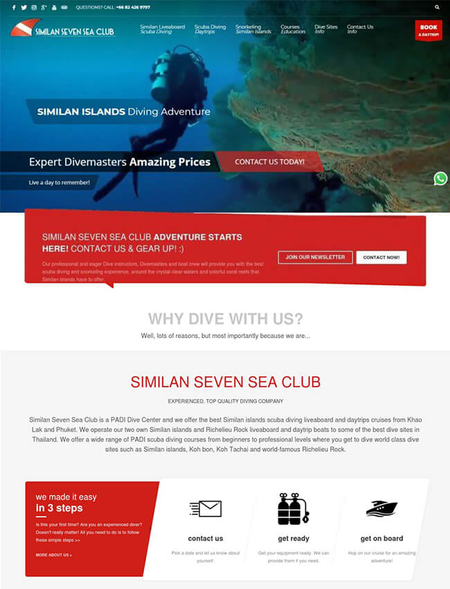 Similan Seven Sea Club Web Design Phuket