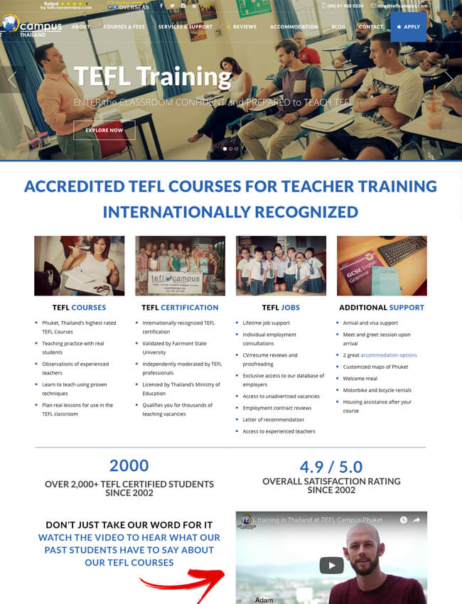 TEFL Campus Web Design Phuket