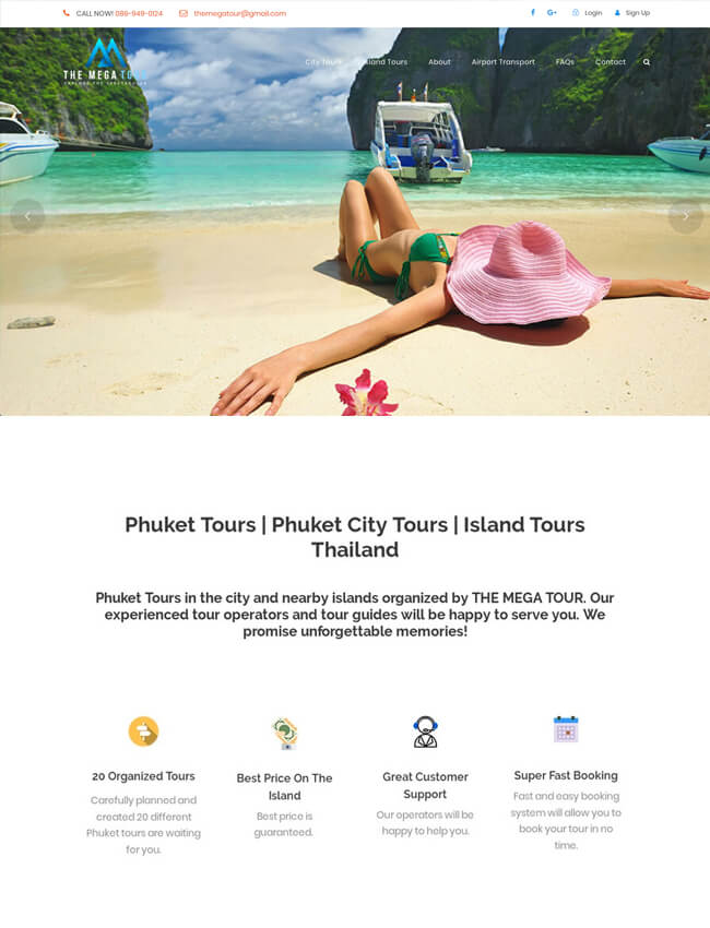 The Mega Tour Web Design Phuket